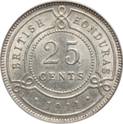 25 Cents - George V – reverse