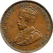 1 Cent - George V – obverse