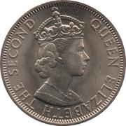 50 Cents - Elizabeth II (1st portrait) – obverse