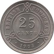 25 Cents - Elizabeth II (1st portrait) – reverse