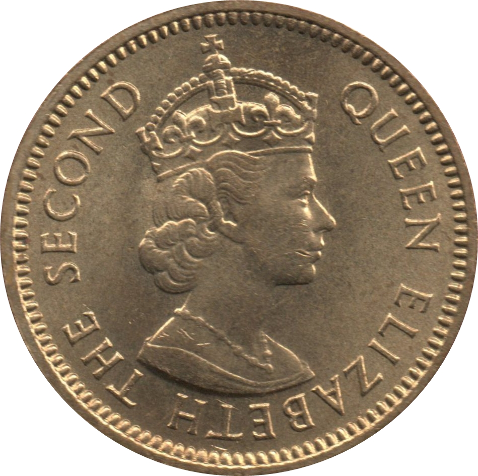 HONDURAS BRITISH COLONY 5 CENTS 1973 UNC NOW BELIZE CROWNED BUST OF QUEEN ELIZA
