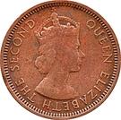 1 Cent - Elizabeth II (1st portrait) – obverse