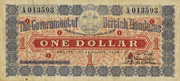 1 Dollar (Red and grey) – obverse