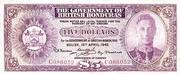 5 Dollars - George VI (Purple) – obverse