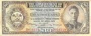 10 Dollars - George VI (Olive-brown) – obverse