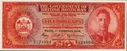 5 Dollars - George VI (Red) – obverse
