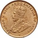 1 Cent - George V (large type) – obverse