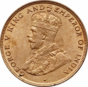 1 Cent - George V (large type) -  obverse