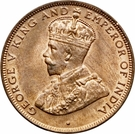 1 Cent - George V (small type) – obverse