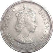 50 Cents - Elizabeth II (1st portrait) -  obverse