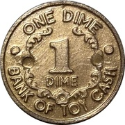 1 Dime - Bank of Toy Cash – obverse