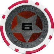 Poker Chip (Metallic Foil; Star - 5) – reverse
