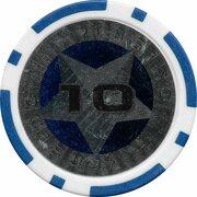 Poker Chip (Metallic Foil; Star - 10) – reverse