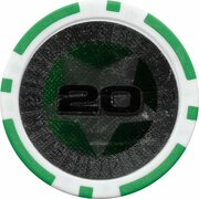 Poker Chip (Metallic Foil; Star - 20) – reverse