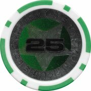 Poker Chip (Metallic Foil; Star - 25) – reverse