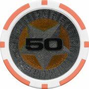 Poker Chip (Metallic Foil; Star - 50) – reverse