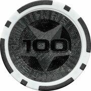 Poker Chip (Metallic Foil; Star - 100) – reverse