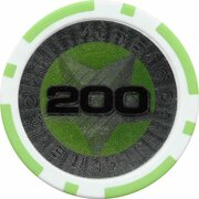 Poker Chip (Metallic Foil; Star - 200) – reverse