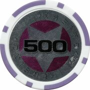 Poker Chip (Metallic Foil; Star - 500) – obverse