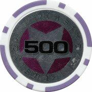 Poker Chip (Metallic Foil; Star - 500) – reverse