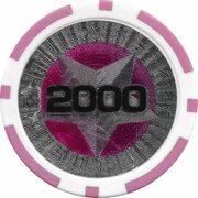 Poker Chip (Metallic Foil; Star - 2000) – reverse