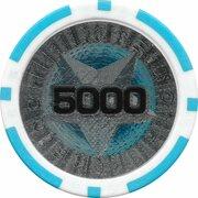 Poker Chip (Metallic Foil; Star - 5000) – reverse
