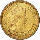 5 Cents - Elizabeth II (1st portrait; reeded edge) – obverse