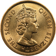 10 Cents - Elizabeth II (1st portrait; reeded edge) -  obverse