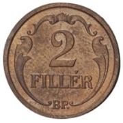 2 Fillér - Miklós Horthy -  reverse