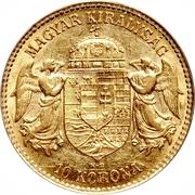 10 Korona - I. Ferenc József (Franz Joseph I - 1848/1867-1916) – reverse