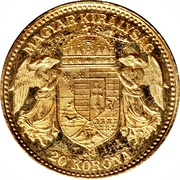 20 Korona - I. Ferenc József (Franz Joseph I - 1848/1867-1916) – reverse