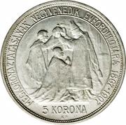5 Korona - I. Ferenc József (Franz Joseph I - 1867-1907 - Coronation) – reverse