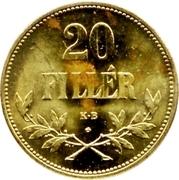 20 Fillér - IV. Károly (Karl IV - 1916-1918) – reverse