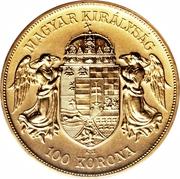 100 Korona - I. Ferenc József (Franz Joseph I - 1848/1867-1916) – obverse
