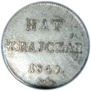 6 Krajczár (War of Independence Coinage) -  obverse
