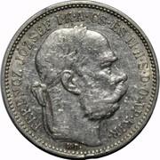 1 Korona - I. Ferenc József (Franz Joseph I - 1848/1867-1916) -  obverse
