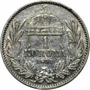 1 Korona - I. Ferenc József (Franz Joseph I - 1848/1867-1916) -  reverse