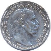 1 Korona - I. Ferenc József (Franz Joseph I - 1848/1867-1916) – obverse