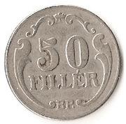 50 Fillér - Miklós Horthy – reverse