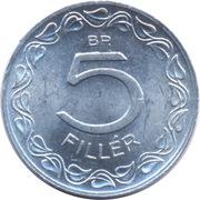 5 Fillér -  reverse