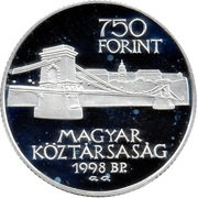 750 Forint (Unification of Buda and Pest) – obverse