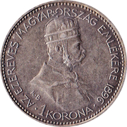 1 Korona - I. Ferenc József (Franz Joseph I - 1848/1867-1916 - Millennium) – obverse