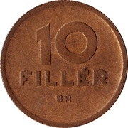 10 Fillér -  reverse