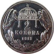 2 Korona - I. Ferenc József (Franz Joseph I - 1848/1867-1916) – reverse