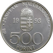 500 Forint (European Currency Union - ECU) – obverse