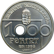 1000 Forint (World Cup Soccer USA) – obverse