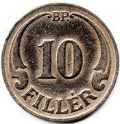 10 Fillér - Miklós Horthy – reverse