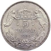 5 Korona - I. Ferenc József (Franz Joseph I - 1848/1867-1916) – reverse