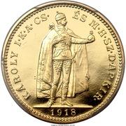 20 Korona - IV. Károly (Karl IV - 1916-1918) – obverse