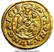 1 Denár - I. Lipót (Leopold I; 1657-1705; Gold trial strike) – reverse